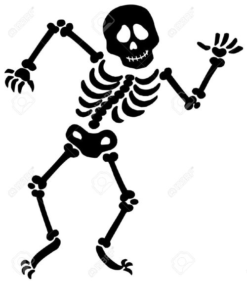 small resolution of skeleton bones clipart 1 dancing skeleton silhouette