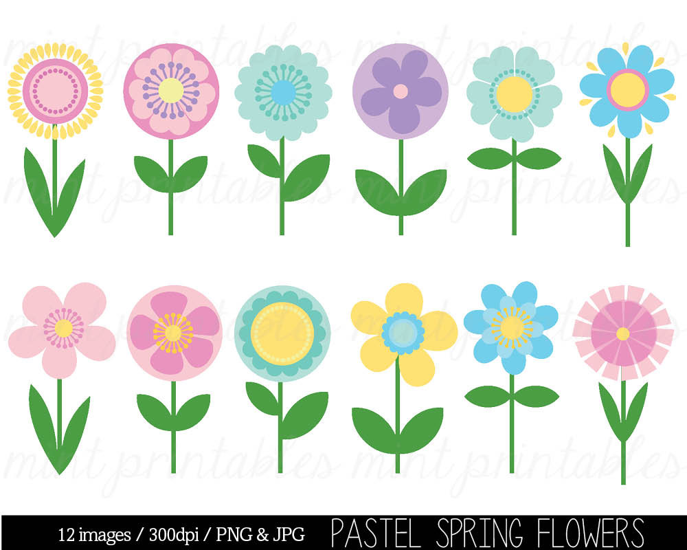 hight resolution of spring flower clip art