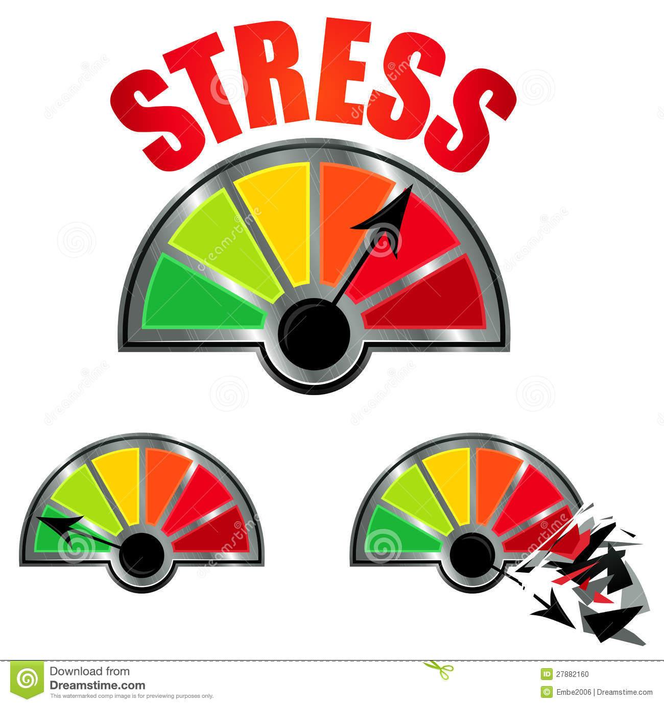 hight resolution of stress level meter stock phot stress clip art