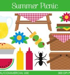 summer picnic clipart  [ 1000 x 795 Pixel ]