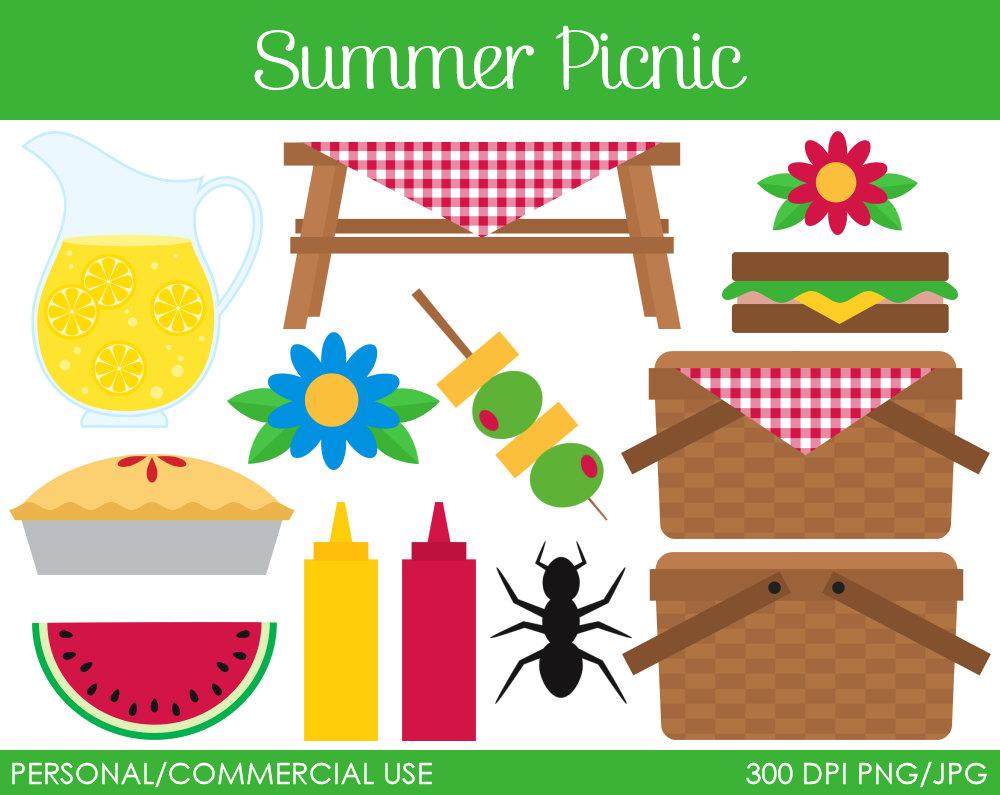 hight resolution of summer picnic clipart