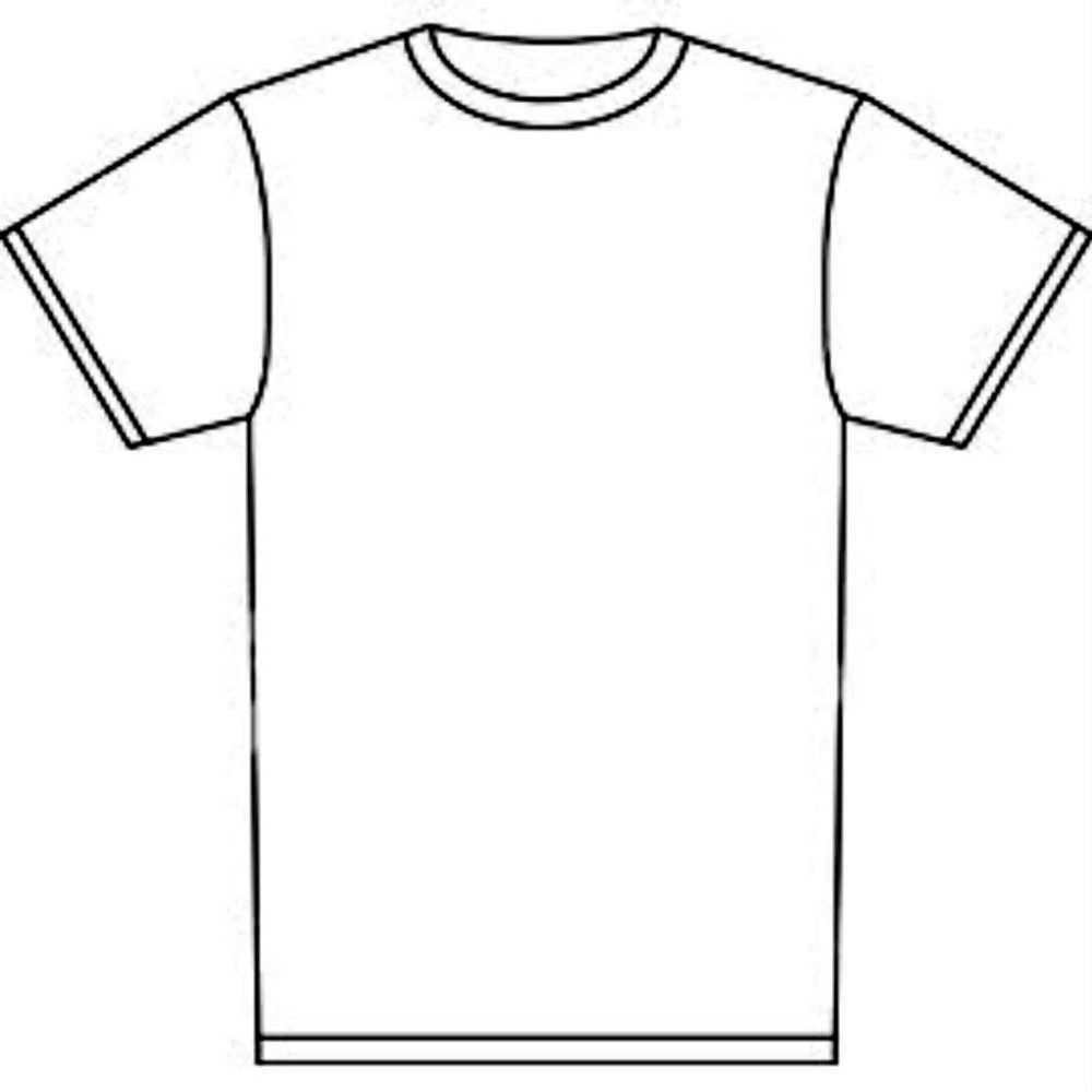 medium resolution of t shirt outline clipart t shirt clip art free