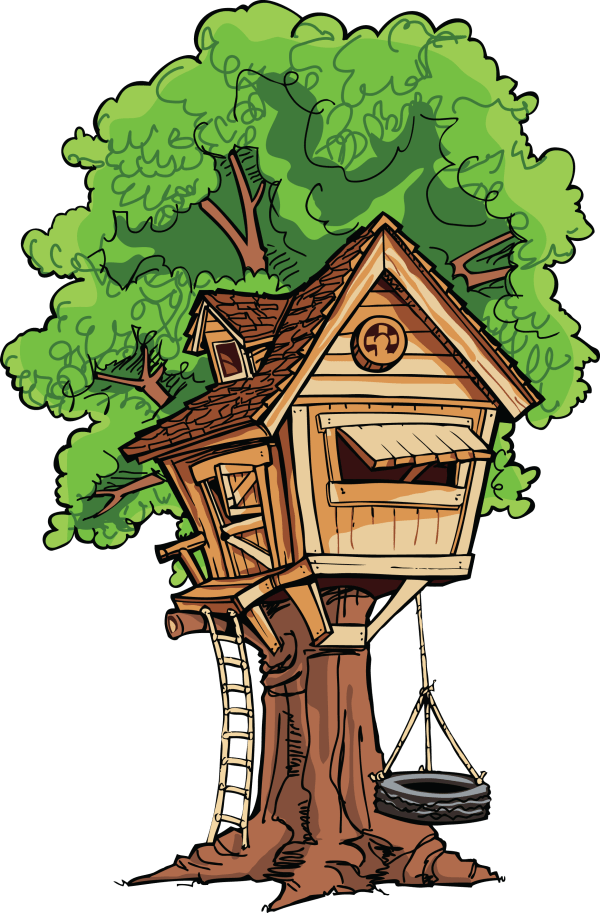Tree House Clip Art & - Clipartlook