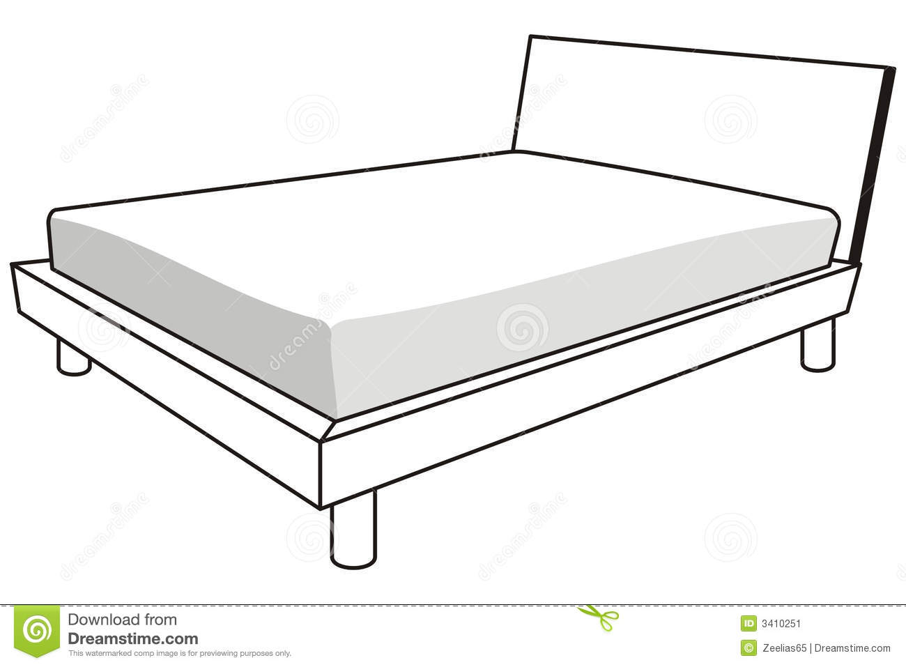 hight resolution of clipart under the bed
