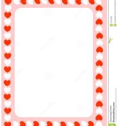 valentine heart border clipart red hearts valentines day [ 1101 x 1300 Pixel ]