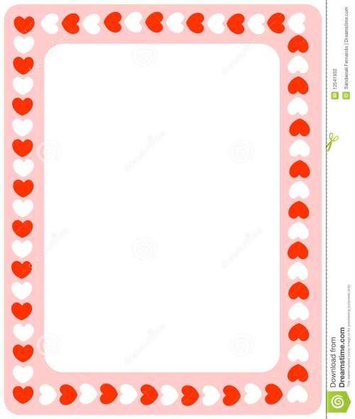 small resolution of valentine heart border clipart red hearts valentines day