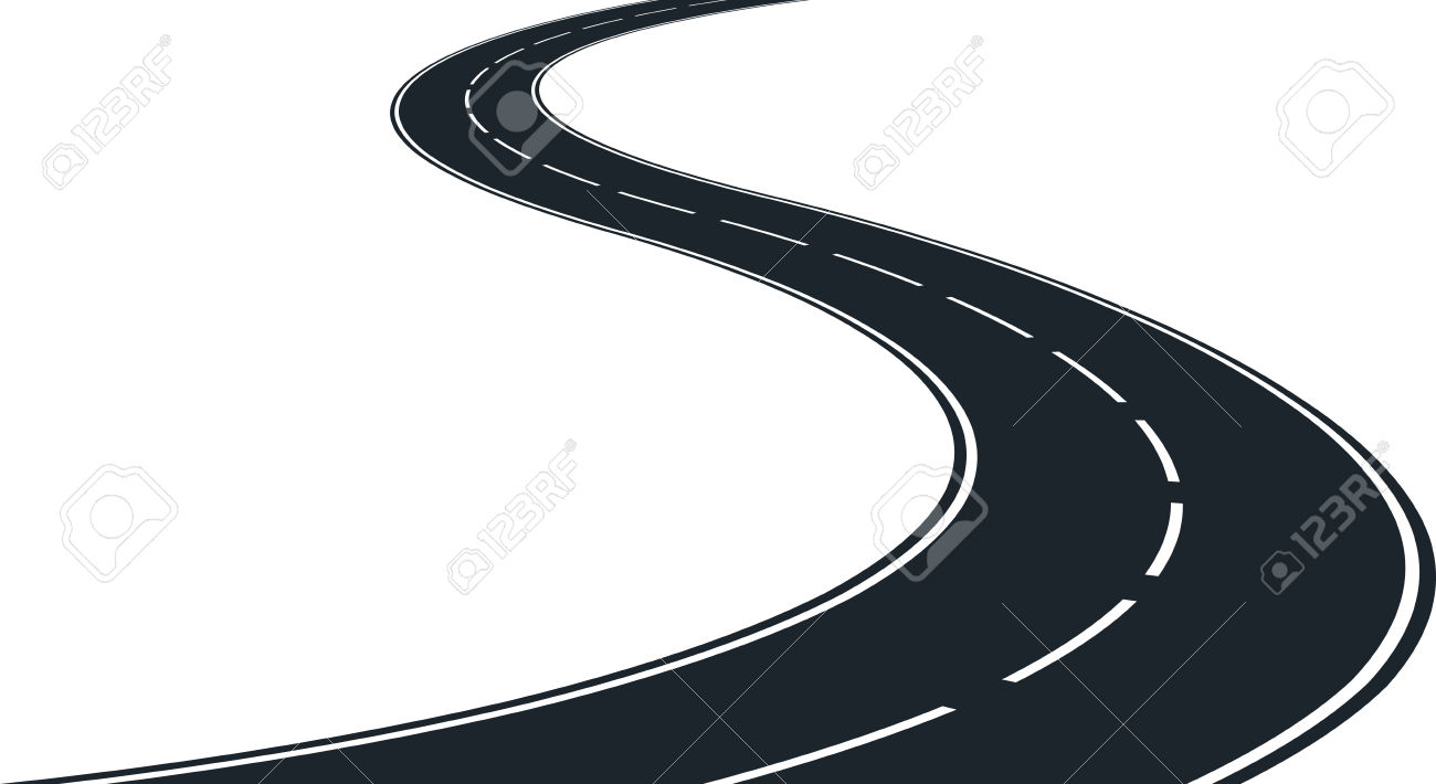 hight resolution of vector isolated winding roa winding road clipart