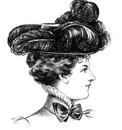 victorian hat fashion illustr victorian clipart [ 1847 x 2267 Pixel ]