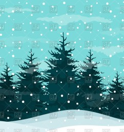 snow in a pine forest winte winter snow clipart [ 1200 x 900 Pixel ]