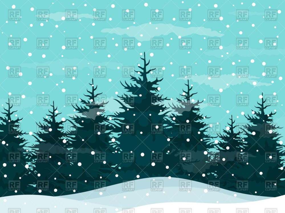 medium resolution of snow in a pine forest winte winter snow clipart