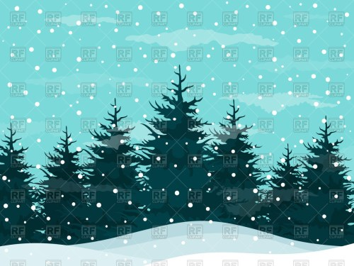 small resolution of snow in a pine forest winte winter snow clipart