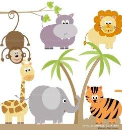 zoo animals clipart free larg safari animal clipart [ 1000 x 1000 Pixel ]