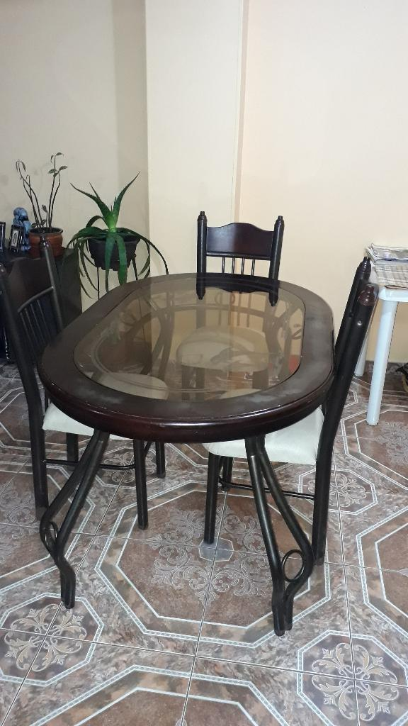 Comedor isabelino para 6 con 4 sillas  Posot Class