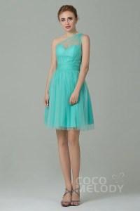 A-Line Short-Mini Tulle Bridesmaid Dress LOZM1503F ...