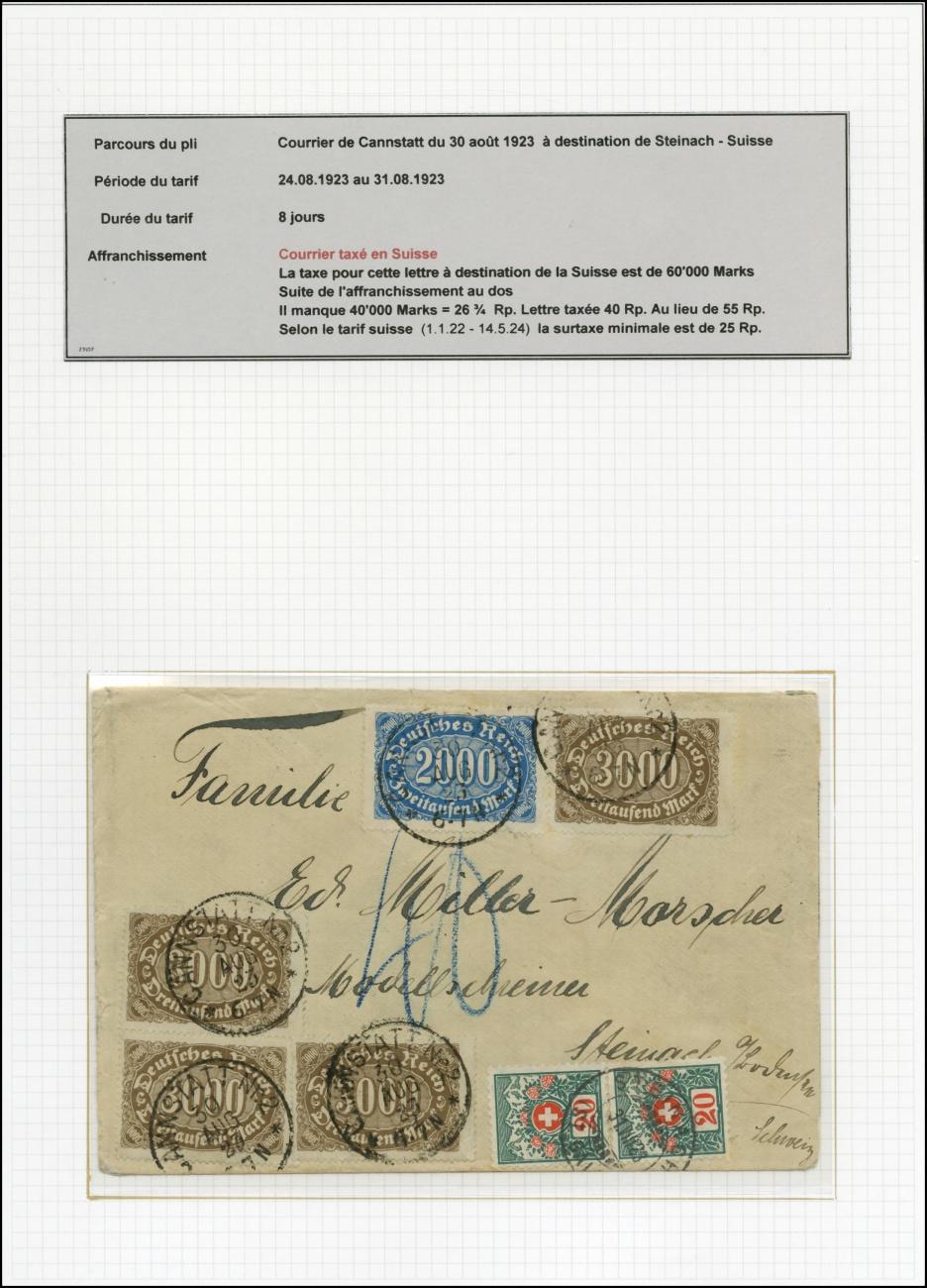 Tarif Lettre Pour La Suisse : tarif, lettre, suisse, Nachportomarken,