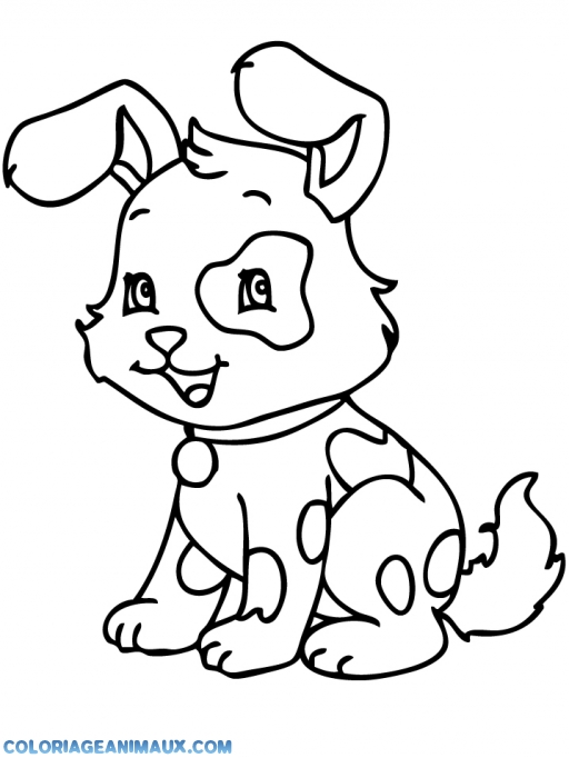 Coloriage chien qui ressemble à un lapin à imprimer