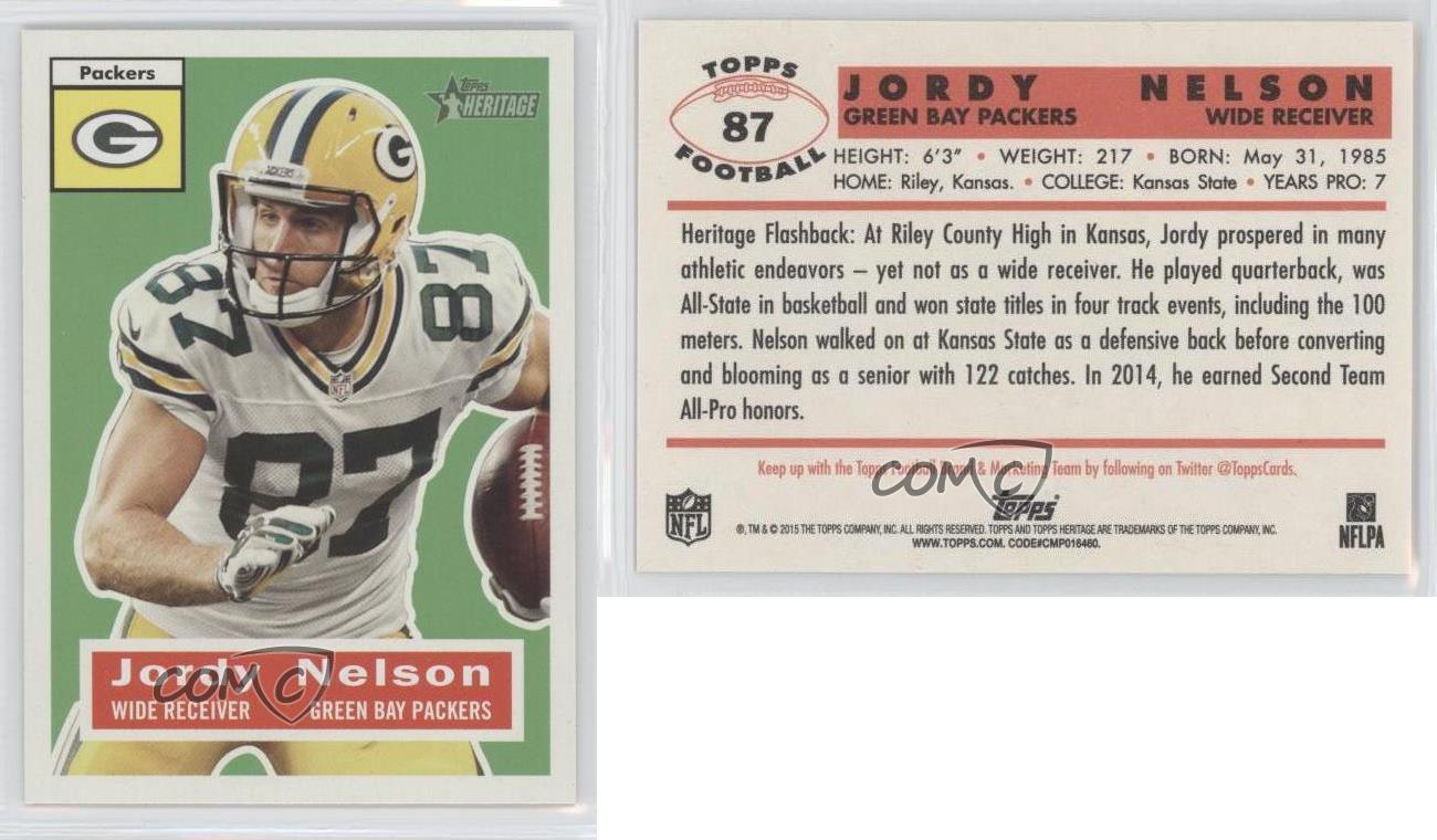 2015 Topps Heritage 87 Jordy Nelson Green Bay Packers