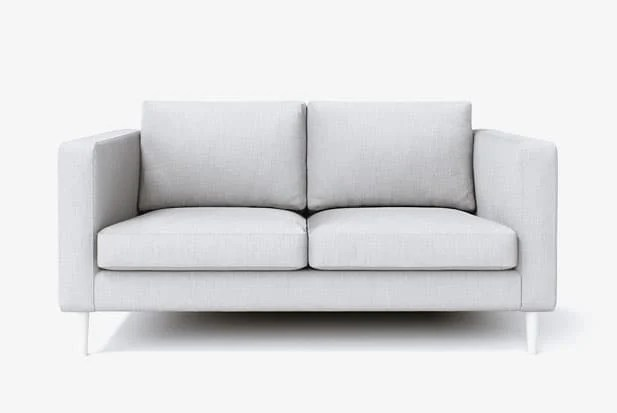 white armchair cover medical shower chairs ikea sofa custom couch slipcover maker comfort works example of snug fit bailey legs painted with kino ash