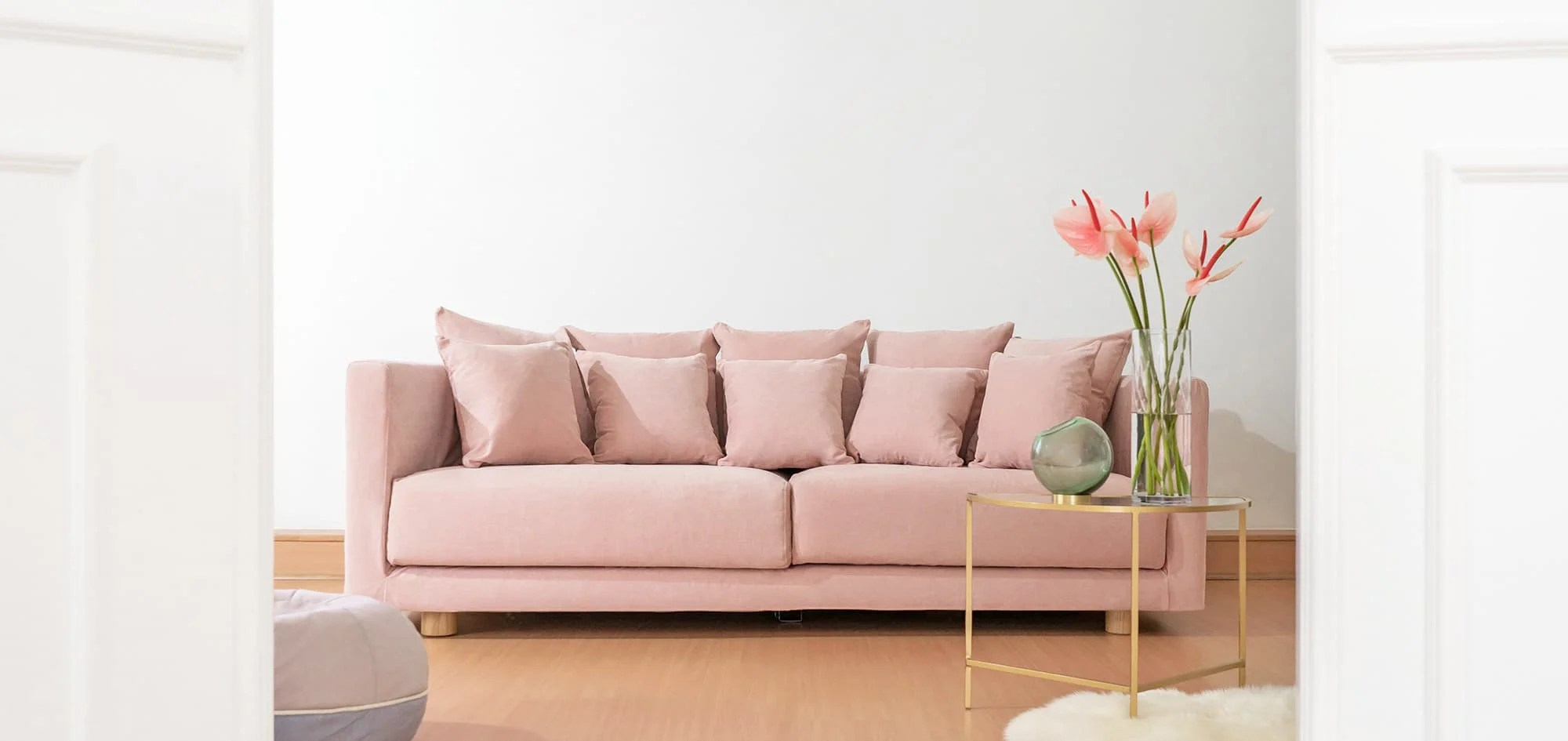 rose sofa slipcover curved back sectional ikea cover and custom couch maker comfort works