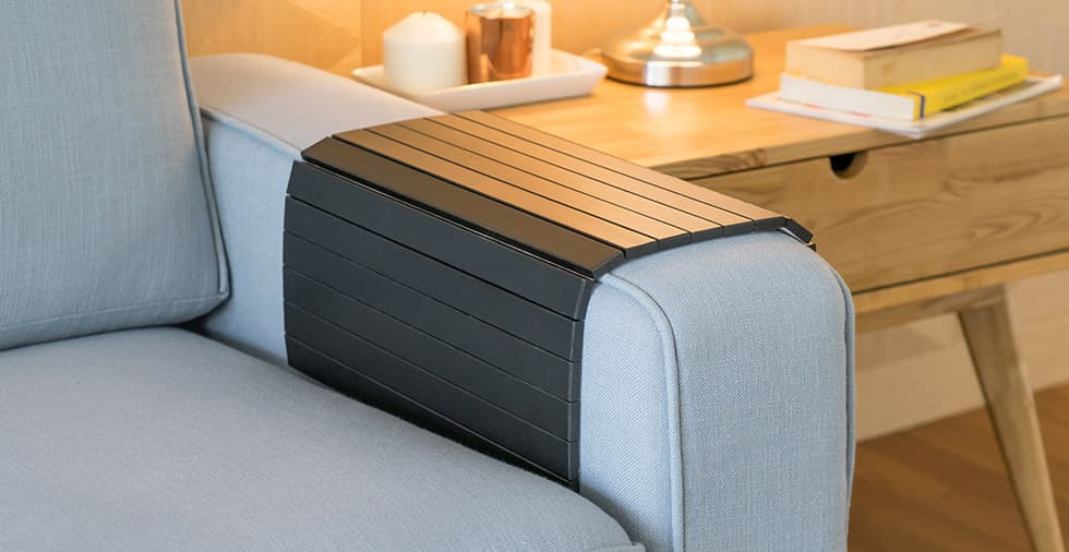 collapsible wooden armrest tray