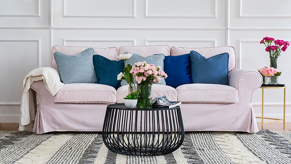 Linkshare innovative textile solutions harper stripe with straps sofa furniture protector slipcover. Mooie IKEA Sofa Cover