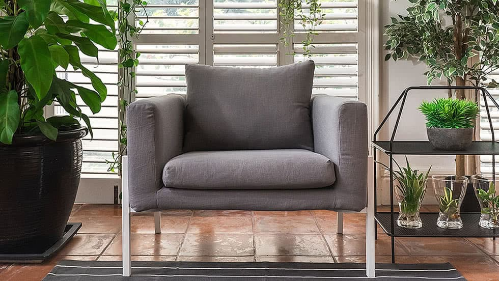 ikea linen chair covers girly office replacement armchair dining guaranteed fit koarp luna grey blends couch slipcover