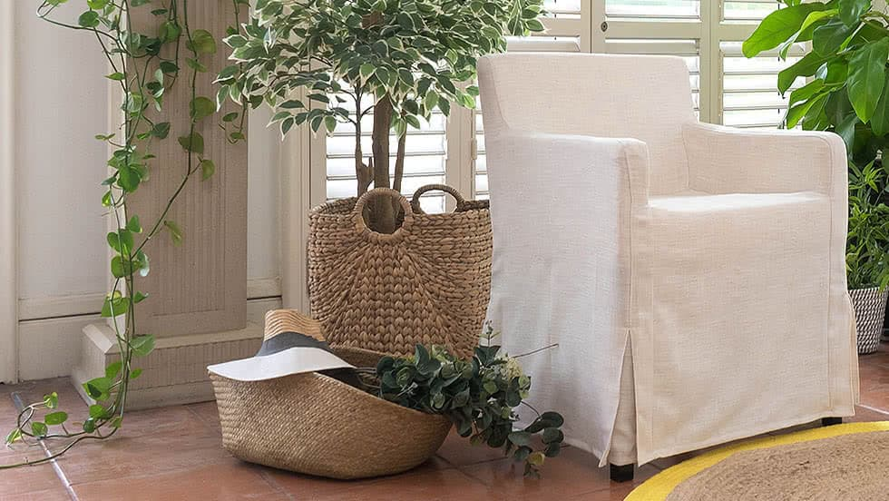 wedding chair covers montreal dining table chairs johannesburg replacement ikea bar stool slipcovers nils luna flax linen blends couch slipcover