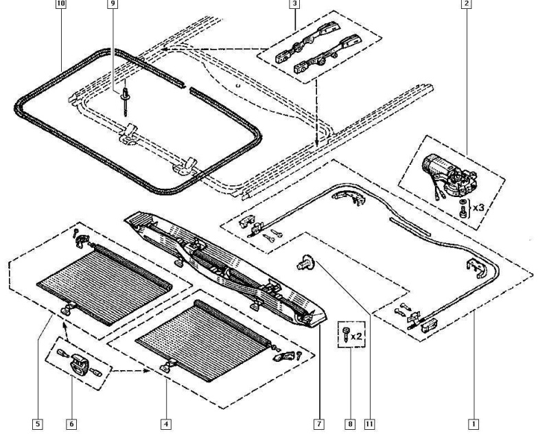 comment réparer un toit ouvrant électrique sur espace 3