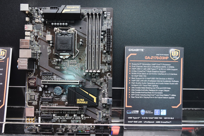 GIGABYTE 展示多款 X99, Z170 系列新主機板 / 外接顯卡盒 - 電腦DIY