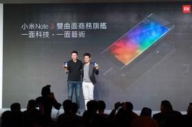 雙機齊發!首款雙曲面旗艦機小米Note2震撼登台 全新紅米Note4X 多彩金屬四色「粉」嫩亮相