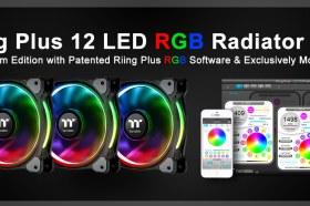曜越TT Premium頂級版Riing Plus LED RGB水冷排風扇