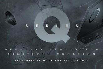 首台迷你電腦搭載 NVIDIA Pascal架構的Quadro 專業顯卡 ZBOX 迷你電腦Q