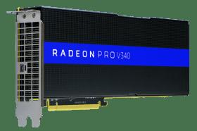 AMD Radeon Pro V340 專業繪圖卡登場 實現資料中心可視化 加速效能與提高使用者密度
