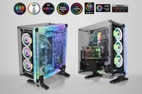 極具創意 曜越帶來DistroCase 350P 強化玻璃水道板機殼