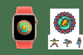 一起來運動吧!Apple 推出國際瑜伽日限定獎章