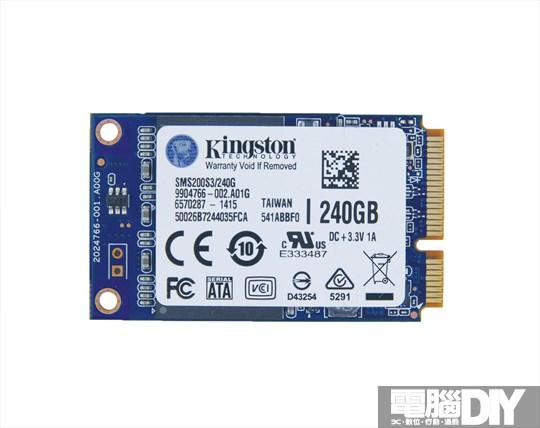 小體積、大容量 Kingston SSDNow 240GB mSATA 固態硬碟 - 電腦DIY