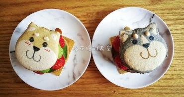 台南超萌甜點哈哈與旺柴,哈士奇、柴犬馬卡龍草莓塔期間限定記得先預約