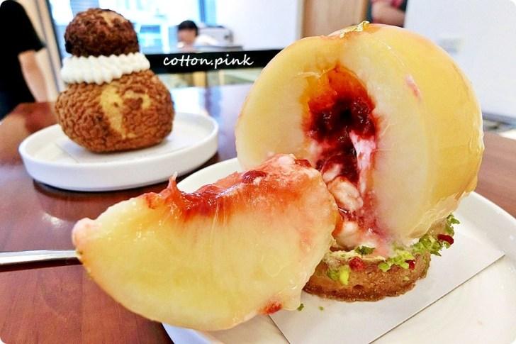 20180727213057 73 - 整顆水蜜桃做甜點!季節限定奢華版水蜜桃塔台中就有!錯過……明年不知道有沒有