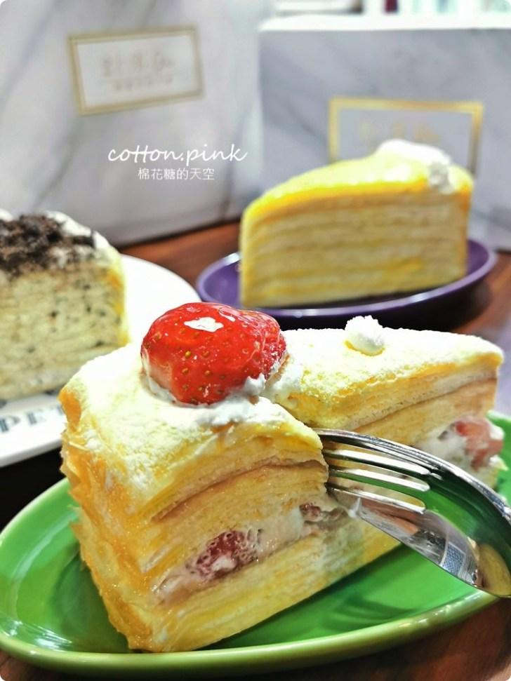 20200128140720 41 - 熱血採訪|兩層綿綿的戚風蛋糕裡面加了一整層的草莓,這也太邪惡了吧!