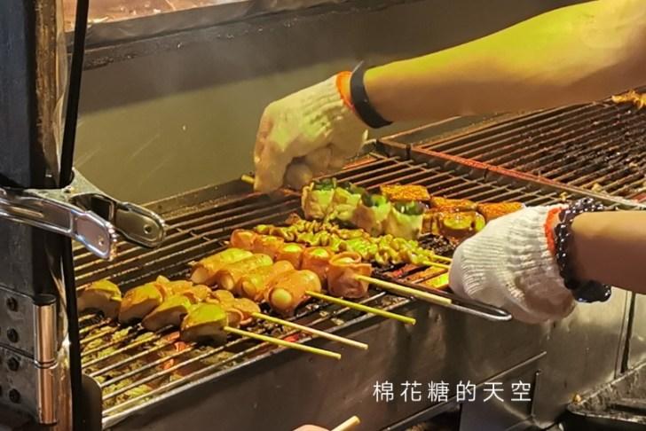 20200527221817 20 - 台中靜宜夜市必吃這一攤!野火燒烤串燒口味超多~肉串三串一百好划算!