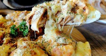 《台中美食》中科商圈高CP值-生活Pasta~焗烤筆管麵香濃美味、料多到爆炸的海鮮Pizza收服大人小孩的心!還有沙拉吧可以吃到飽耶~