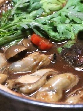 牡蠣の土手鍋(ドテ鍋)♪