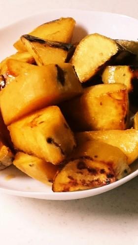 安納芋のフライパンで焼き芋