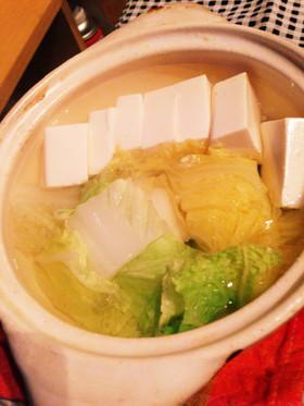 白菜湯豆腐 by うまいあれ 【クックパッド】 簡単おいしいみんなのレシピが312萬品