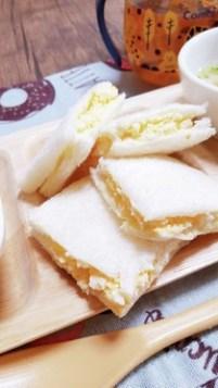 離乳食手づかみ☆卵サンドイッチ