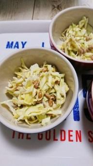 納豆とキャベツのネバっとサラダ