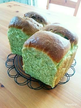 栄養満点☆青汁粉末入りふわふわ山食パン
