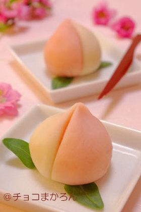桃ねりきり☆ひな祭りの簡単和菓子