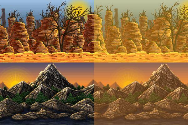 Mountain Pixel Art 2d Game Backgrounds