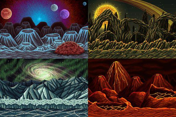 Planet Pixel Art 2d Game Backgrounds